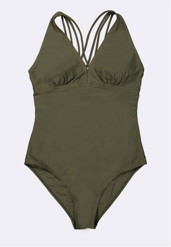 BENCH green Strappy One Piece Swimsuit DA8FCUS293D359GS_1