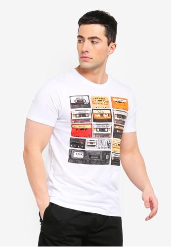 Brave Soul white Decade Photographic Print T-Shirt 295F9AA92221B8GS_1