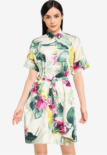 Desigual multi Safari Floral Shirt Dress AA9FEAAD26E705GS_1
