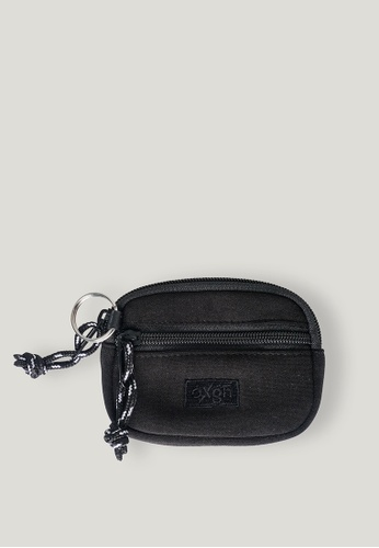 OXGN grey Logo Coin Purse With Embroidered Patch 74C6AAC859803FGS_1