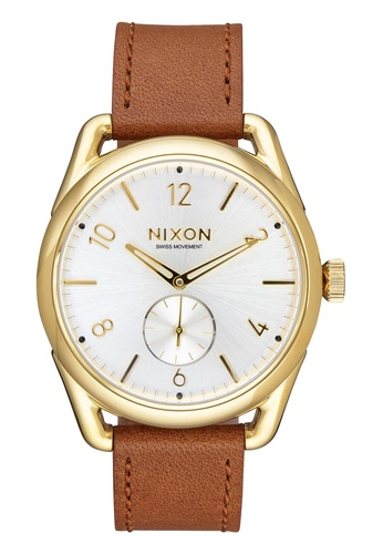 Nixon brown and gold Nixon - C39 Leather  Gold/Tan Watch NI855AC89EAGSG_1