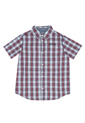 Guess multi Y/D Check Short Sleeve Shirt 5BD62KA8D67875GS_1