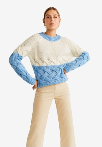 usa cheap sale look for first rate Shop Mango Contrasting Knit Sweater Online on ZALORA Philippines