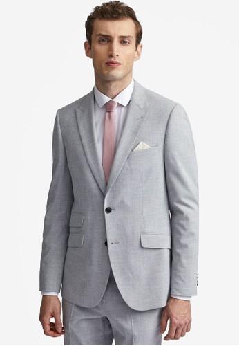Burton Menswear London grey Grey Marl Slim Suit Jacket F4A32AAF7CB43EGS_1