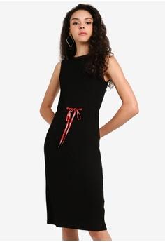 fe68471c6050d Desigual black Vest Tigre Midi Dress 4509BAA5C005C6GS_1