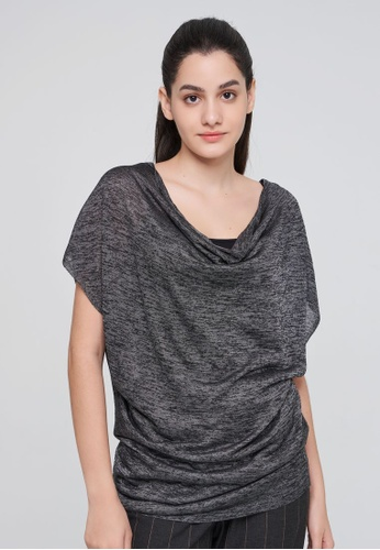 Sisley grey Regular Fit Knitted Top 796F4AAB6A7EE5GS_1