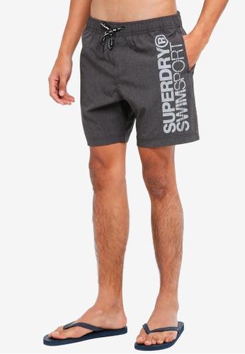Superdry grey SD Sports Volley Swimshorts 37DD2US501925BGS_1