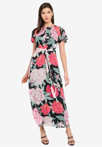 Dorothy Perkins multi PETITE'S Floral Multi Coloured Maxi Dress 799C5AAADBB068GS_1