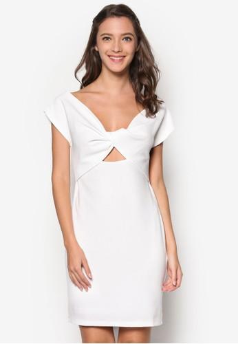 扭結鏤空貼身連身裙, 服飾, 服esprit 兼職飾