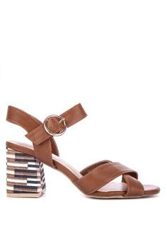 31c0b550ee8 S H brown Kallax Heeled Sandals 928D2SH220F9D2GS 1