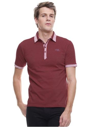 LGS red LGS - Slim Fit - Kaos Polo - Kerah Tinggi - Merah LG695AA0VG2AID_1