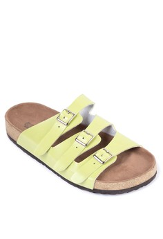 Alaine Three Straps Flat Slides