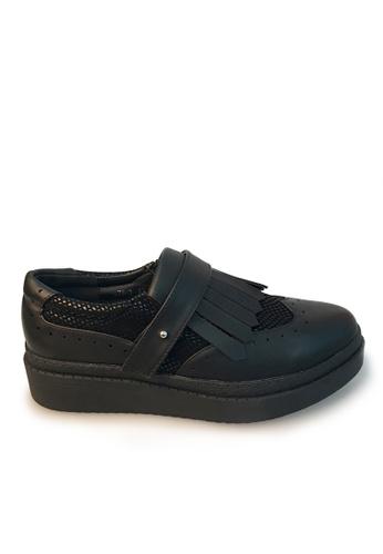 Sunnydaysweety black Big Sale Item - 2017 New Retro Fringed Retro Flat Shoes C030110BK SU219SH0FAKNSG_1