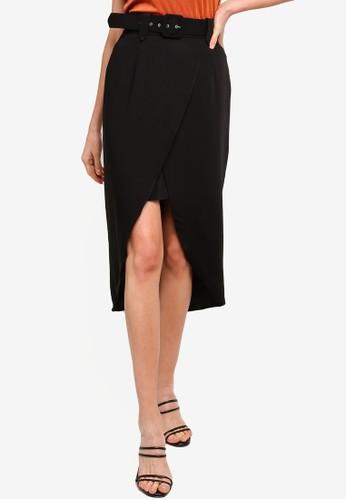 KOTON black Belt Skirt 685C6AAB938E5EGS_1