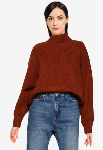 LOWRYS FARM orange Casual Knit Sweater 7FBA9AA626FD6AGS_1