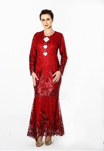 Adam.R red Belle Dress 4A615AA8374711GS_1
