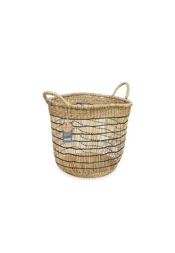 HOUZE ecoHOUZE Seagrass Tall Woven Basket With Handles 2F578HL60A12E6GS_1