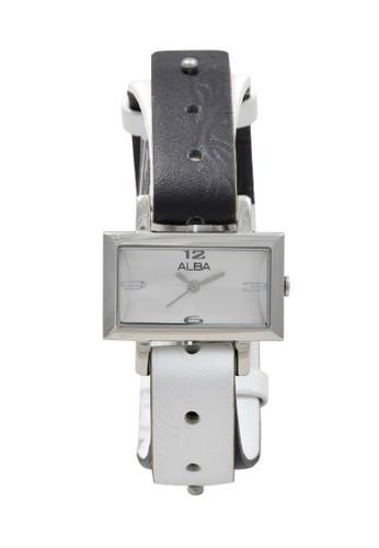 Alba black and white ALBA Jam Tangan Wanita - Black Silver White - Stainless Steel - AC3S63 AFA21AC98C5CDAGS_1