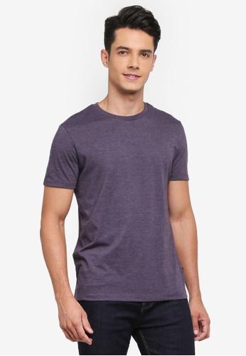 Burton Menswear London purple Purple Marl Crew Neck T-Shirt C700CAAFD8FF0DGS_1