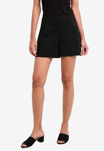 Dorothy Perkins black Petite Black Rivet Detail Shorts 4189DAAF13370DGS_1