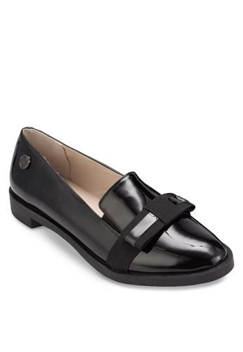蝴蝶結漆esprit女裝皮樂福鞋, 女鞋, 鞋