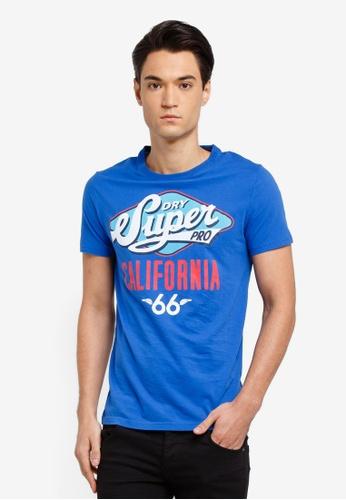 Superdry 藍色 短袖印花T恤 D4EA4AADA59C15GS_1