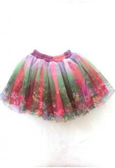 Flower Printed Tutu Skirt Free Size