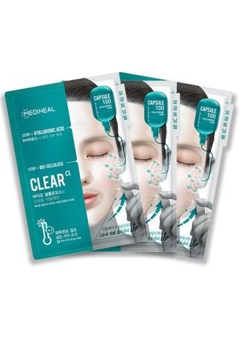 Mediheal green Mediheal Capsule 100 Bio Seconderm (Clear α) Mask (x3 sheets) 92920BE172C074GS_1