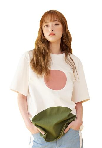 Bonnie&Blanche white Full Moon T-shirt BO457AA0GII7SG_1