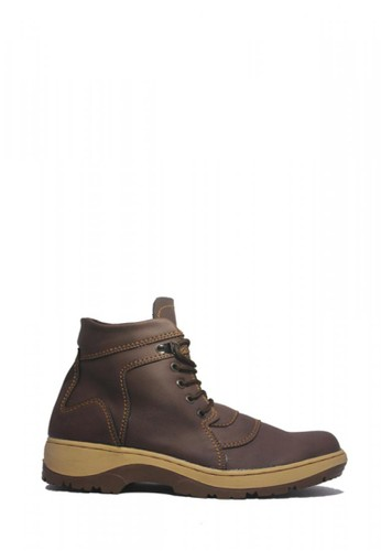 Cut Engineer brown Cut Engineer Harren Safety Boots Apple Leather Brown 6A005SH435B4D8GS_1