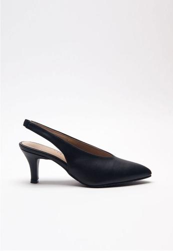 Emelyn black Charline Slingback Heels F9C37SHA4B7960GS_1