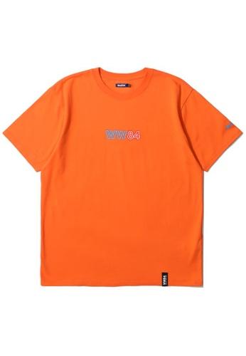 BLOCKAIT orange X Wonder Woman neon logo tee C9883AACC48291GS_1
