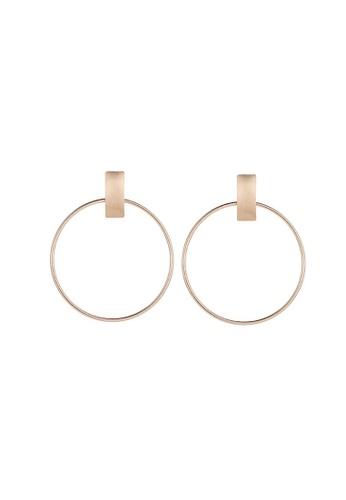 Glamorbit bronze Bronze Hoop Statement Earrings 17501ACA9D0456GS_1