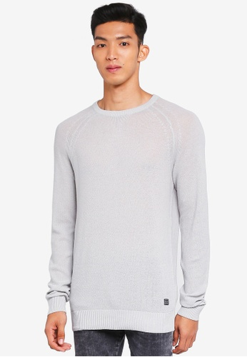 Jack & Jones grey Crew Neck Knit Jumper 931CDAAF0BA2DCGS_1