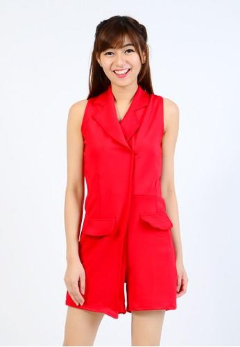 madeleine Madeleine`s Blazered Jumpsuit Red MA534AA66UVPID_1