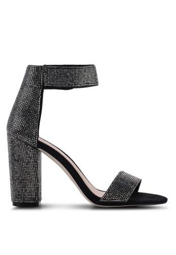 836f3852e0 Walheim Open Toe Ankle Strap Block Heels