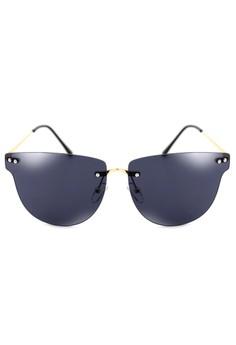 Malcon Modern Rimless Sunglasses 9664-Y
