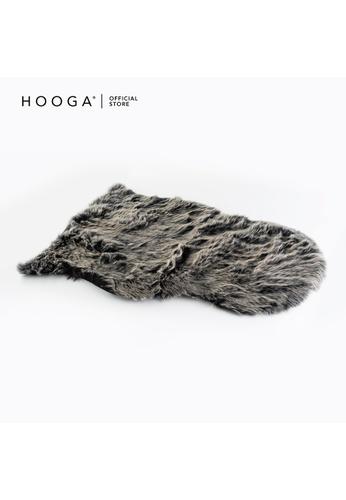 HOOGA Hooga Faux Fur Rug Mollie Black 3E7E5HLAB9175EGS_1