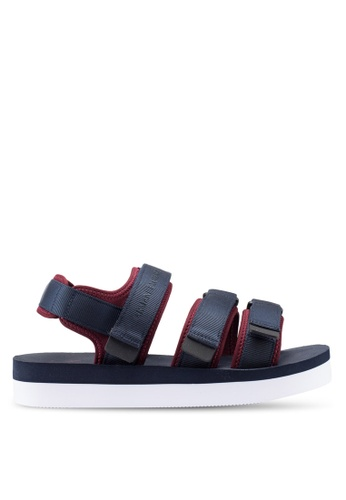 Armani Exchange navy Retro Canvas Sandals D52DASHCF51665GS_1