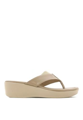 Carlo Rino beige Carlo Rino 33370-C025-31 Slip-on Flat Sandals 8E443SHCD949BAGS_1
