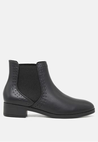 London Rag 黑色 无鞋带松紧短靴 A2160SH41216C0GS_1