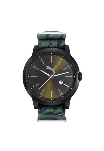 PUMA multi Puma Liberated - Black Camo Slip-thru - Multicolour Fabric Strap - Black Case (PU104231004) PU440AC09GPISG_1