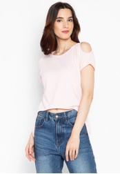 moondaze pink Esme Arc Belly Top 6DD88AA4ED8A7AGS_1