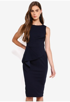 ba7ffa4645bf Dorothy Perkins navy Navy Scuba Pencil Dress EDA74AA8700950GS_1