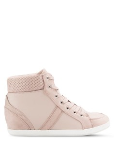 【ZALORA】 Ryua 穿孔高筒運動鞋
