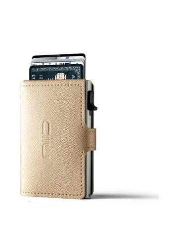 NIID gold Saffiano Genuine Leather‧Anti Scratch ‧RFID‧Leather Mini Wallet - Gold 7B7B5ACCCC2083GS_1
