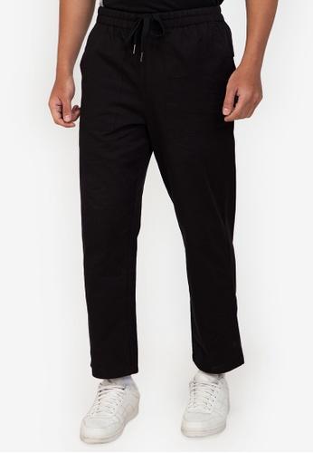 ZALORA BASICS black Patch Pocket Drawstring Pants 6E8F8AAE1338A7GS_1