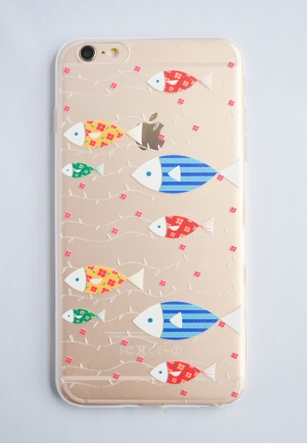 Fancy Cellphone Cases multi Fish Line Case for iPhone 6 FA644AC25DGSPH_1