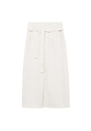 Mango beige Denim Belt Skirt C8AF2AA4199C8AGS_1