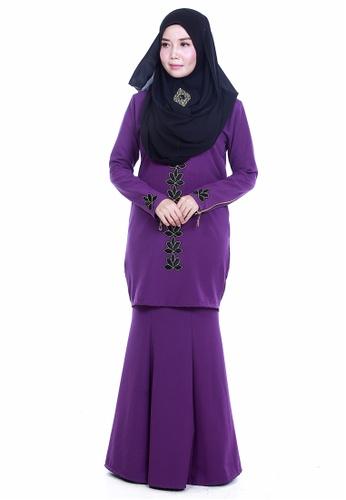 Farosa Kurung Deandra Purple from Farosa in Purple